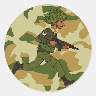 GREEN SOLDIER PAKISTAN ROUND STICKER