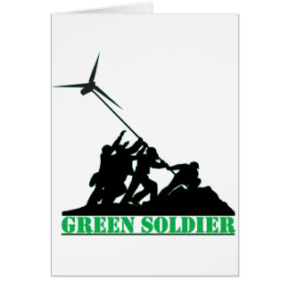 Green Soldier Windmill Greeting Card