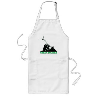 Green Soldier Windmill Long Apron