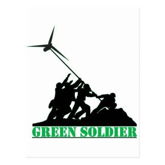 Green Soldier Windmill Postcard