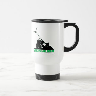 Green Soldier Windmill Stainless Steel Travel Mug