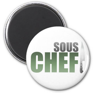 Green Sous Chef 6 Cm Round Magnet