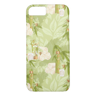 Green Spa, yoga, workout, bamboo iPhone 8/7 Case