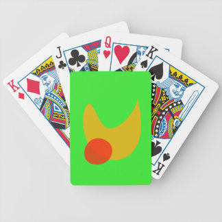 Green Space Bicycle Playing Cards