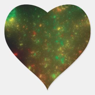 Green Space Heart Sticker