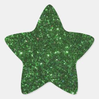 Green Sparkles Star Sticker
