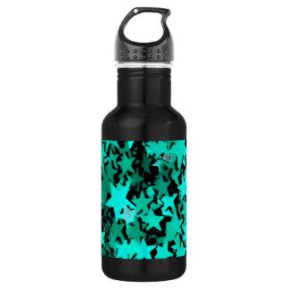 Green Sparkly Stars 532 Ml Water Bottle