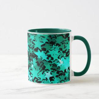 Green Sparkly Stars Mug