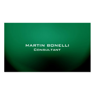 Green Special Unique Plain Clean Pack Of Standard Business Cards