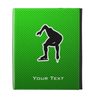 Green Speed Skater iPad Folio Covers