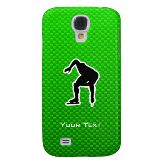 Green Speed Skater Samsung Galaxy S4 Cases