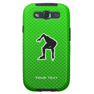 Green Speed Skater Galaxy S3 Covers