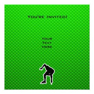 Green Speed Skater Custom Announcement
