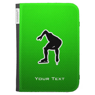 Green Speed Skater Kindle Folio Cases
