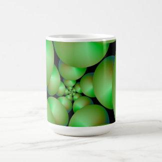 Green Sphere Spiral Mug