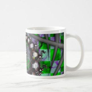 Green Sphere Spirals Mug