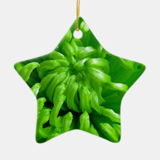 Green Spider Mums Christmas Ornament