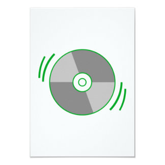 Green Spinning CD Invitations