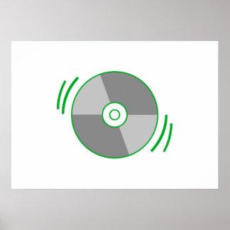 Green Spinning CD Print