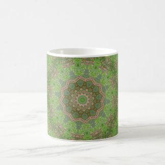 Green spiral fractal design basic white mug