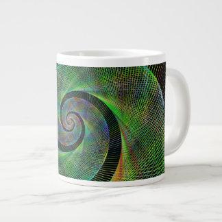Green spiral jumbo mug