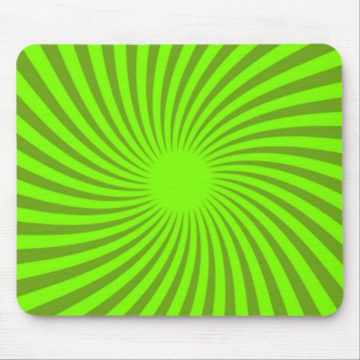 Green Spiral Mouse Pad