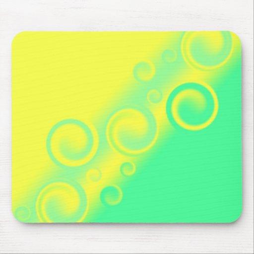 green spiral  Mousepad