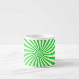 Green spiral espresso mug
