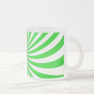 Green spiral mugs
