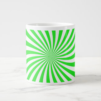 Green spiral jumbo mugs