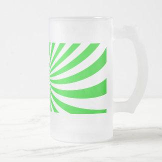 Green spiral beer mugs