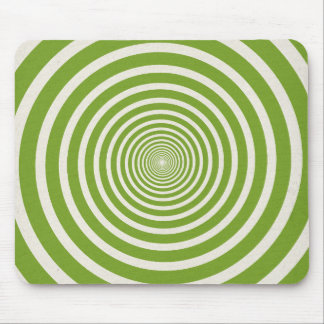 Green spiral optical illusion mouse pad