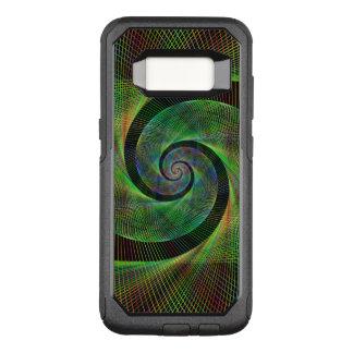 Green spiral OtterBox commuter samsung galaxy s8 case