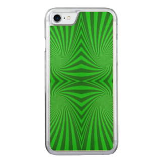 Green spiral pattern carved iPhone 8/7 case