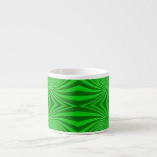 Green spiral pattern espresso mug