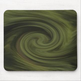 green spiral pattern mousepad