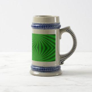 Green spiral pattern coffee mug
