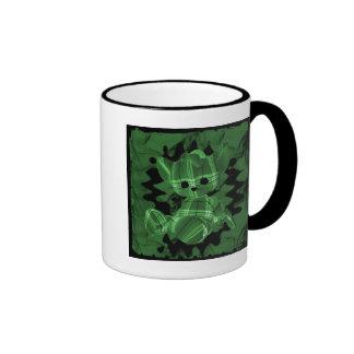 Green Spiral Smoke Teddy Bear Mug