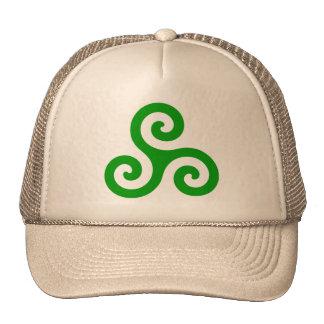 Green Spiral Triskele Cap