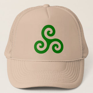 Green Spiral Triskele Trucker Hat