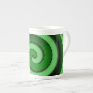 Green Spiral Zone Bone China Mug