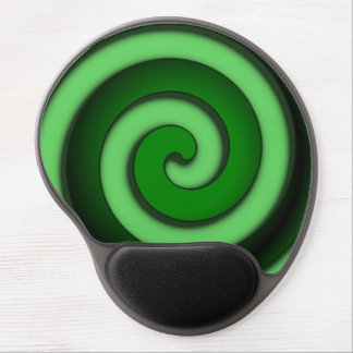 Green Spiral Zone Gel Mouse Pad