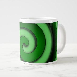 Green Spiral Zone Jumbo Mug
