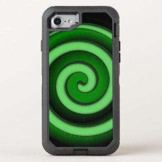 Green Spiral Zone OtterBox Defender iPhone 8/7 Case