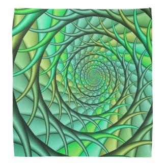 Green Spiraling Roots Bandana