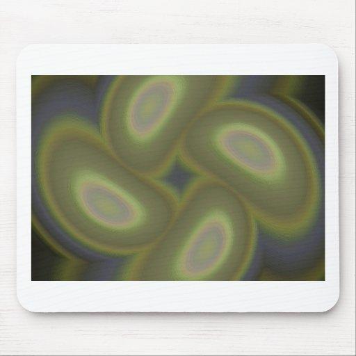 Green Spirals Mouse Pads