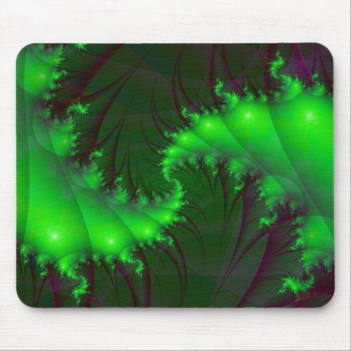 Green Spirals Mousepad