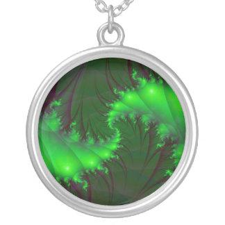 Green Spirals Necklace