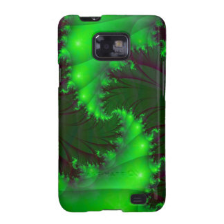 Green Spirals Samsung Galaxy S Galaxy SII Cover