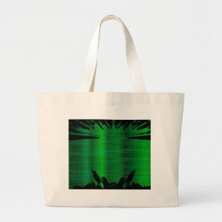 Green Splash Background Large Tote Bag